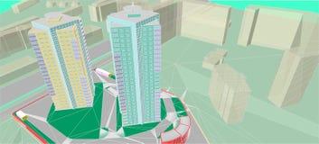 Dessins architecturaux illustration stock