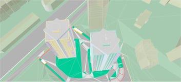 Dessins architecturaux illustration libre de droits