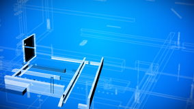 dessins architecturaux de modèle illustration de vecteur