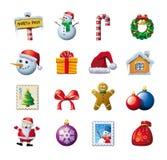 Dessins colorés de Noël Photos stock