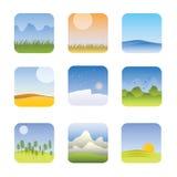 Dessins d'information de zones climatiques du monde Image libre de droits