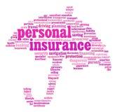 Dessins d'information-texte d'assurance Image stock