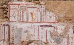 Dessins dans des Chambres de terrasse, ville antique d'Ephesus Images stock