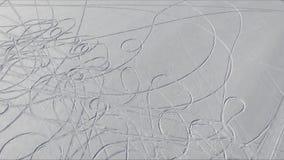 Dessins dans la neige banque de vidéos