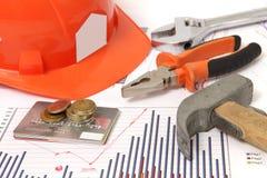 Dessins de construction immobilière et de rénovation Photographie stock