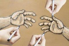 Dessins de main illustration libre de droits