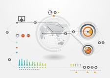 Dessins de positionnement et d'information d'Infographics Photo libre de droits