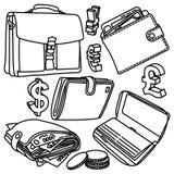 Dessins de vecteur de finances Images libres de droits