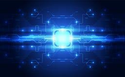 Dessins de vecteur fond de technologie de vitesse du processeur de puce Illustration de vecteur illustration de vecteur