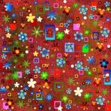 Dessins floraux et géométriques Photo stock