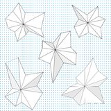 Dessins géométriques aigus abstraits Image stock