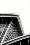 Dessins géométriques d'architecture de terminal d'aéroport images libres de droits