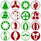 Dessins simples de Noël Photographie stock libre de droits