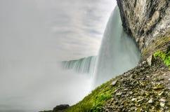 Dessous des automnes en fer à cheval, chutes du Niagara Image libre de droits