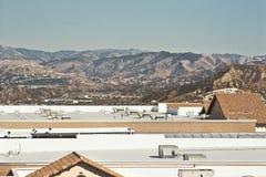 Dessus commerciaux de toit d'entrepôt Photos libres de droits