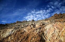 Dessus croisé de montagne Image libre de droits