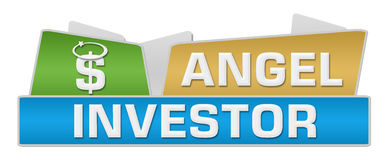 Dessus d'Angel Investor Colorful Squares On Images libres de droits