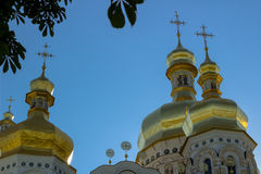 Dessus d'or de Christian Orthodox Abbey Image stock