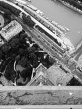 Dessus d'Eiffel Photos libres de droits
