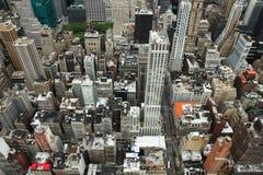 Dessus d'horizon de New York vers le bas Images libres de droits