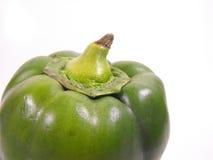 Dessus d'isolement de poivre vert Photographie stock