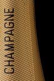 Dessus d'une bouteille de champagne Images stock