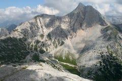 Dessus d'une montagne Photo libre de droits
