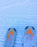 Dessus d'une pente dans la station de vacances GrandValira, Andorre de ciel photos libres de droits