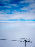 Dessus de benne suspendue de ski Images libres de droits