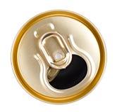 Dessus de canette de bière Photo libre de droits