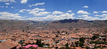 Dessus de Cusco Pérou Images stock