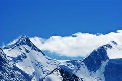 Dessus de deux montagnes Photo libre de droits