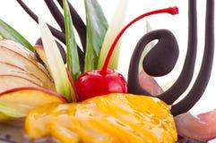 Dessus de gâteau de fruit Photographie stock libre de droits
