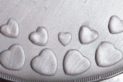 Dessus de gâteau gris avec du mastic Photographie stock