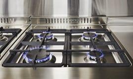 Dessus de gaz de cuisine image libre de droits
