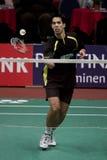 dessus de joueur de douleur d'eric de badminton Image libre de droits