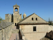 Dessus de l'Alcazar à Cordoue, Espagne Photos libres de droits
