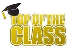 Dessus de l'illustration de capuchon de graduation de classe Photo libre de droits