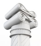 Dessus de la colonne d'isolement sur le fond blanc rendu 3d Images stock