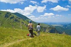 Dessus de la montagne Photos libres de droits
