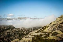 Dessus de la montagne Images libres de droits