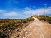 Dessus de la montagne de Guaza Image libre de droits