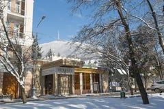Dessus de la montagne Mashuk avec l'avenue de Kirov dans Pyatigorsk Image stock