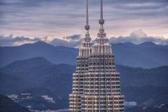 Dessus de la tour de Petronas en Kuala Lumpur Photographie stock