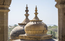 Dessus de minar du palais Photo libre de droits