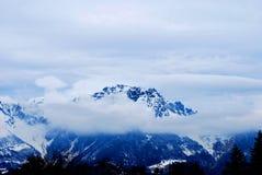 dessus de montagne image stock