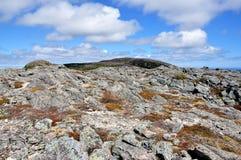 Dessus de montagne dans Terre-Neuve Image stock
