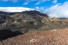 Dessus de montagne de l'Etna en Sicile Photos libres de droits