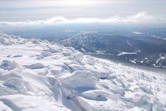 Dessus de montagne de Mustag Images libres de droits