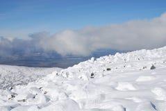 Dessus de montagne de Mustag Images stock